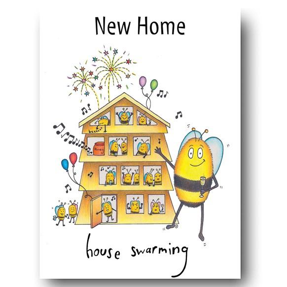 Swarming Greeting Card
