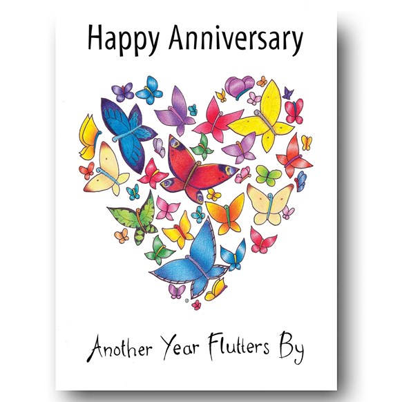 Fluttering Heart Greeting Card