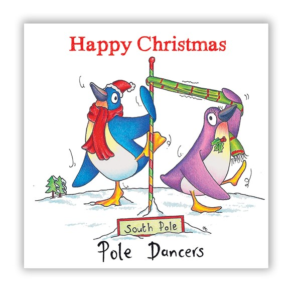 Pole Dancers Christmas Card