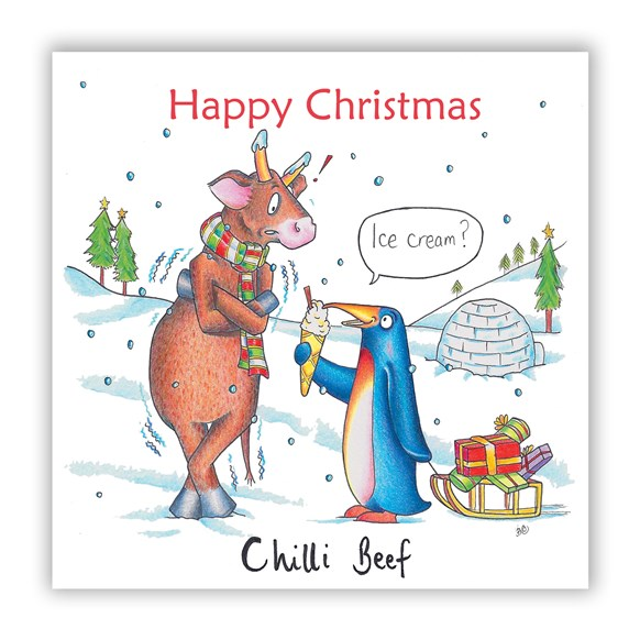 Chilli Beef Christmas Card
