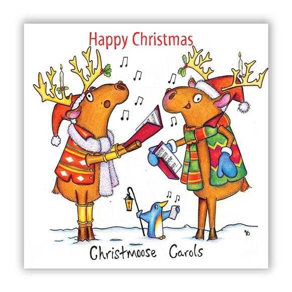 Christmoose Carols Greeting Card