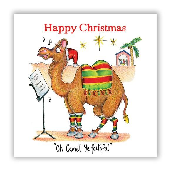 Camel Singing Christmas Card