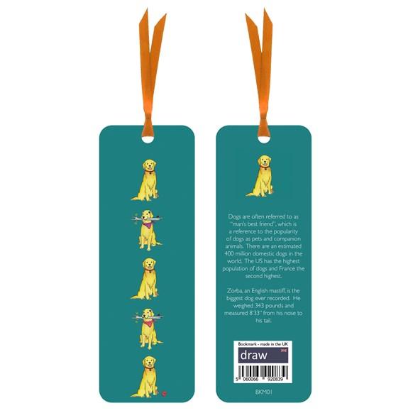 Dog Bookmark Green