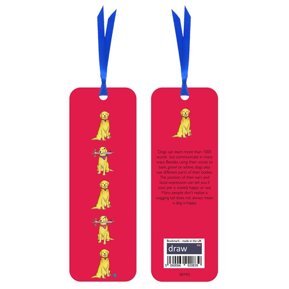 Dog Bookmark Red