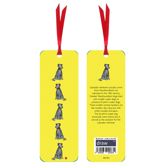 Labrador Bookmark Yellow