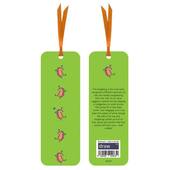 Hedgehog Bookmark Green