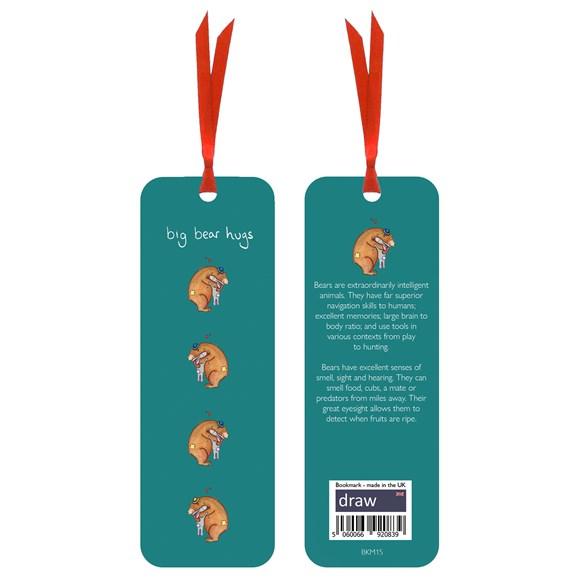 Bear Bookmark Green