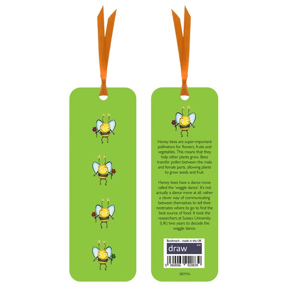 Bee Bookmark Green
