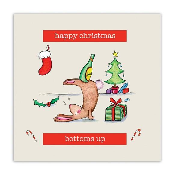 Bottoms Up Christmas Card