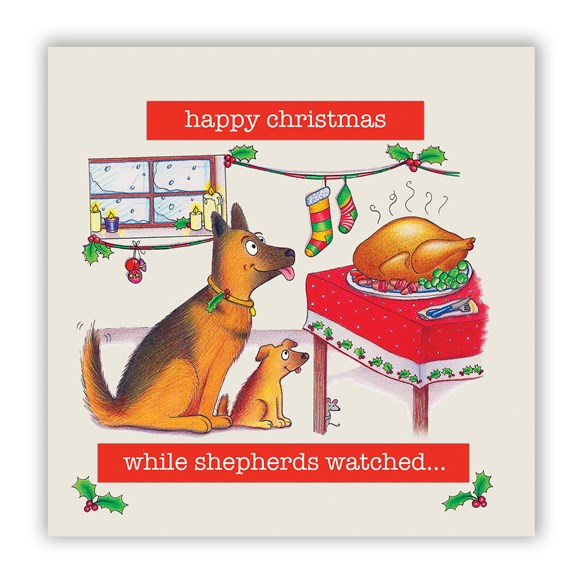 Shepherds Watched Christmas Card