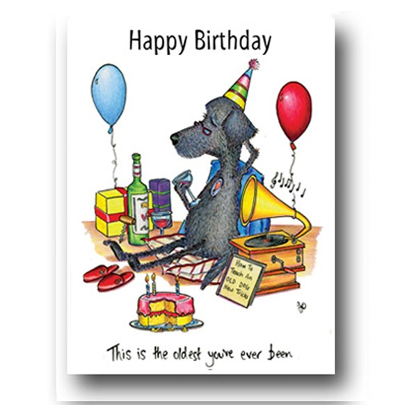 Dog Oldest Greeting Card
