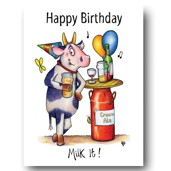 Milk It Greeting Card