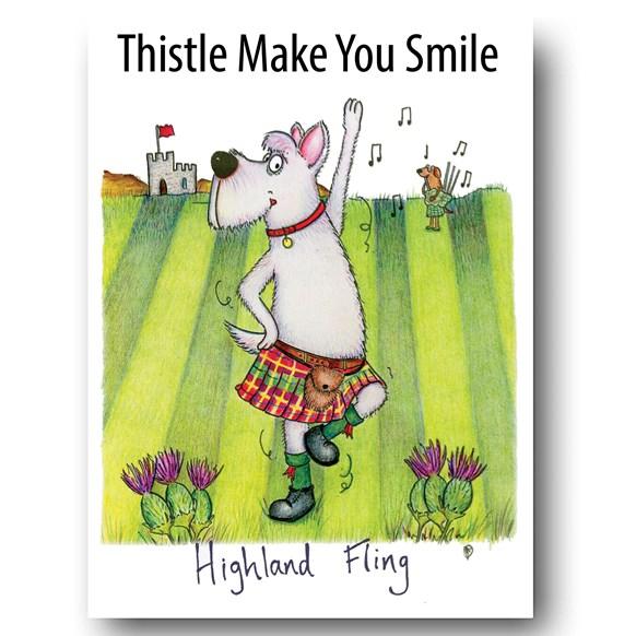 Highland Fling Greeting Card