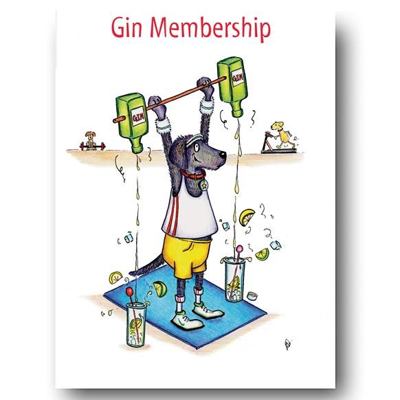 Gin Membership Greeting Card
