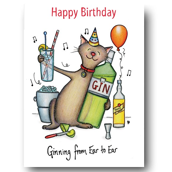 Ginning from Ear to Ear Greeting Card