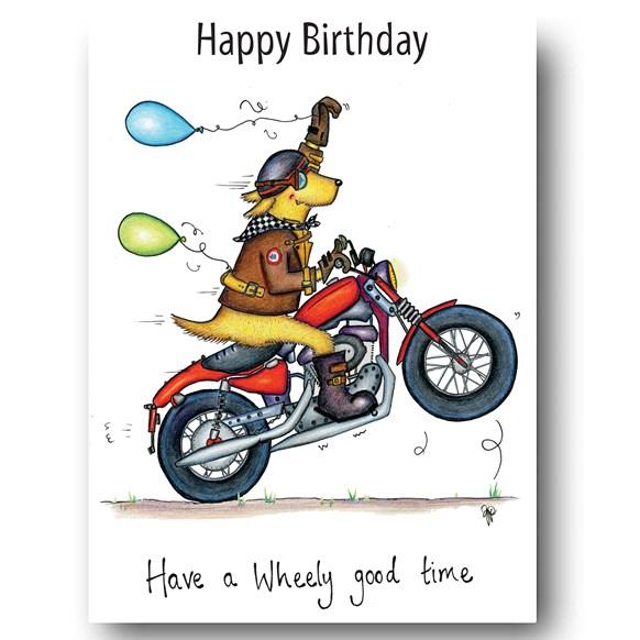 Wheelie Good Time Greeting Card