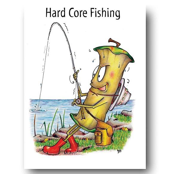 Hard Core Fishing Greeting Card