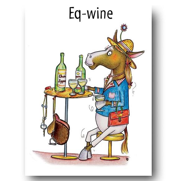 Eq-Wine Greeting Card