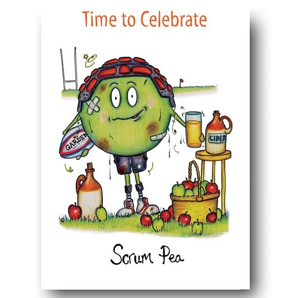 Scrum Pea Greeting Card