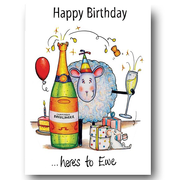 Here's to Ewe Greeting Card