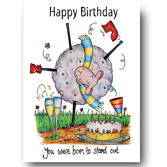 Stand Out Greeting Card