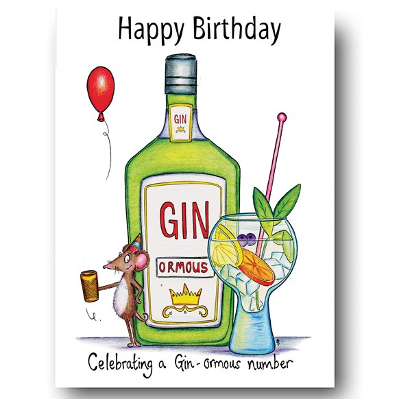 Gin-ormous Greeting Card