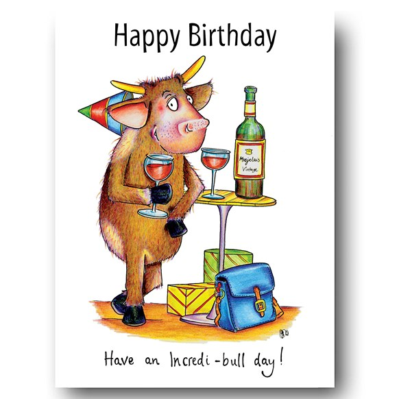 Incredi-bull Greeting Card