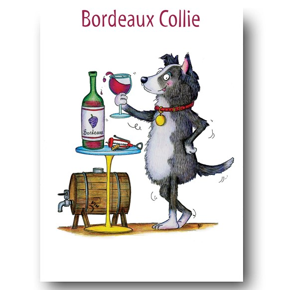 Bordeaux Collie Greeting Card