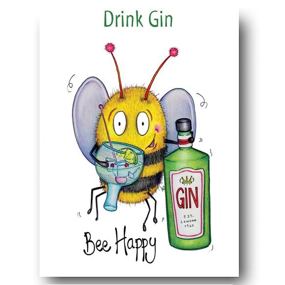 Bee Gin Greeting Card