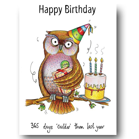 365 Owlder Greeting Card