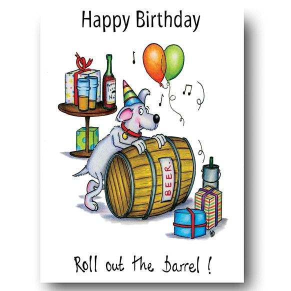 Roll the Barrel Greeting Card