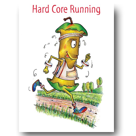 Hard Core Running Greeting Card