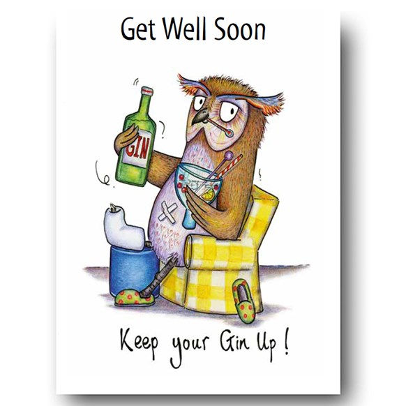 Keep your Gin up Greeting Card