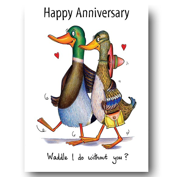 Waddle I do without you Greeting Card