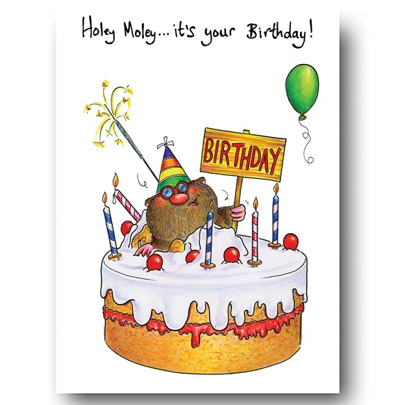 Holey Moley its your Birthday Greeting Card