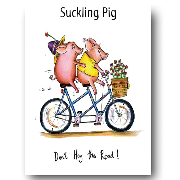 Suckling Pigs Greeting Card
