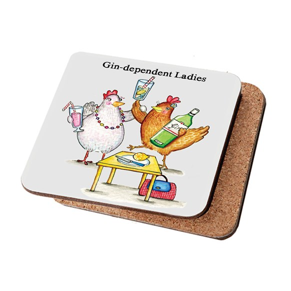 Gin-dependent Ladies Coaster