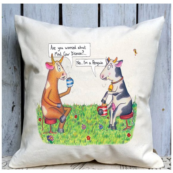 Mad Cow Cushion Large