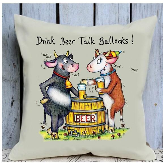Talk Bullocks Cushion Large