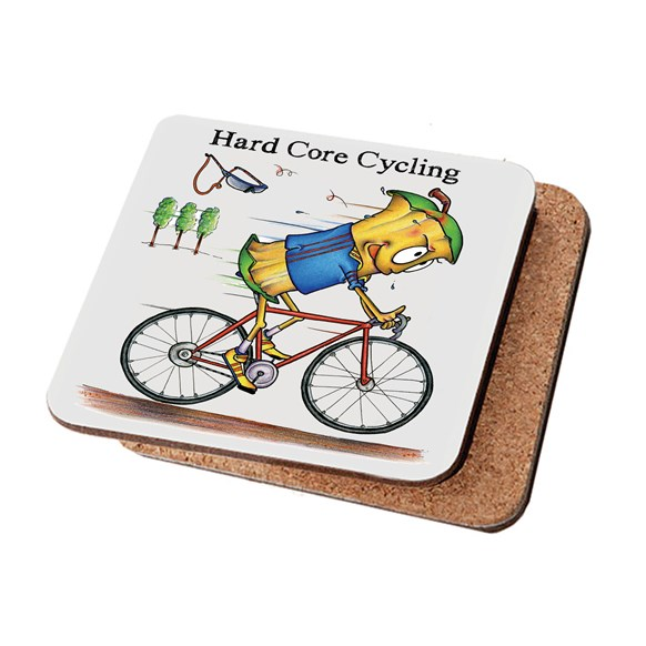 Hard Core Cycling Coaster (Pack of 6)