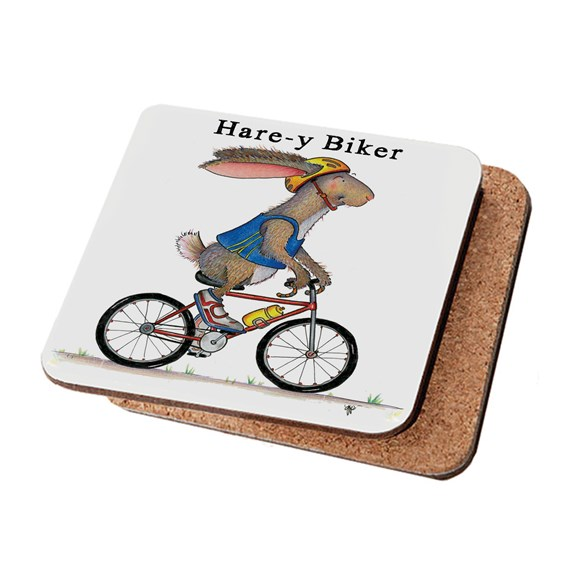 Hare-y Biker Coaster (Pack of 6)