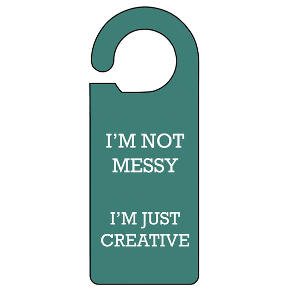 Not Messy Door Hanger
