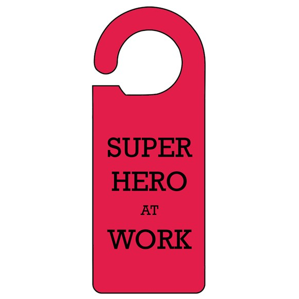 Super Hero Door Hanger