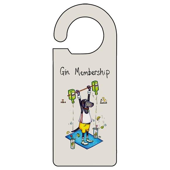 Gin Membership Door Hanger