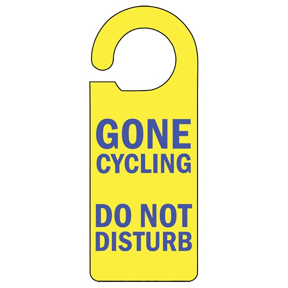 Gone Cycling Door Hanger