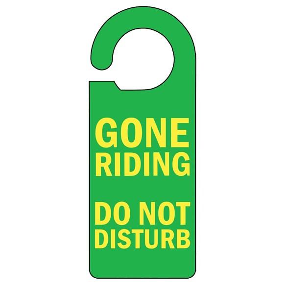 Gone Riding Door Hanger
