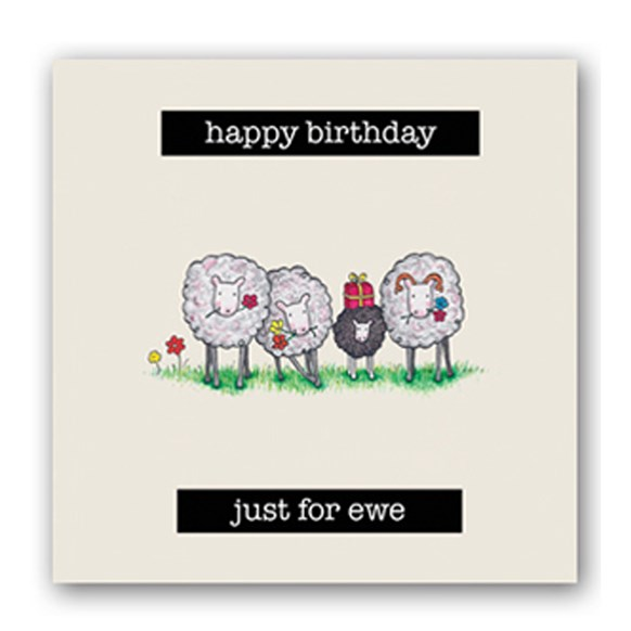 Just For Ewe Embellishment Card