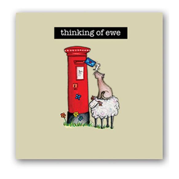 Thinking of Ewe Embellishment Card