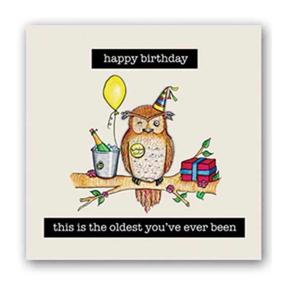 Oldest Owl Embellishment Card