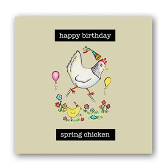 Spring Chicken Embellishment Card
